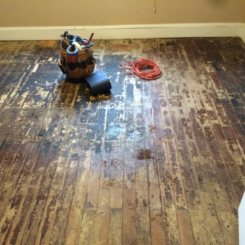 Hardwood Floor Refinish In An Old House In North Minneapolis